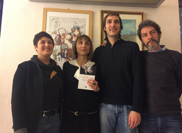 Luca Nisoli e l'autrice del libro