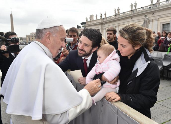Ariza con la sua famiglia a Roma dal Papa