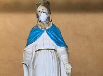 """In Italia la Madonna """"sfregiata"""" che vince l'odio"""