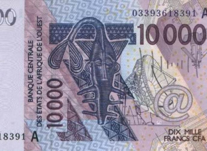 La banconota da 10.000 franchi CFA