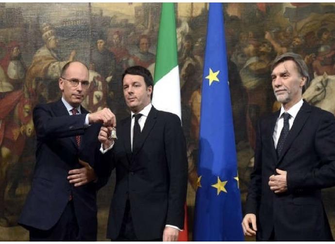 Il passaggio della campanella: è l'inizio del Renzi I