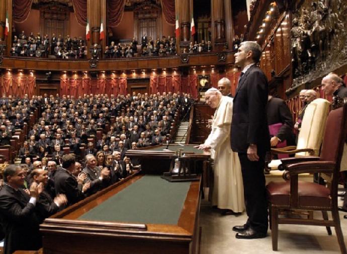 La visita di Giovanni Paolo II al Parlamento italiano