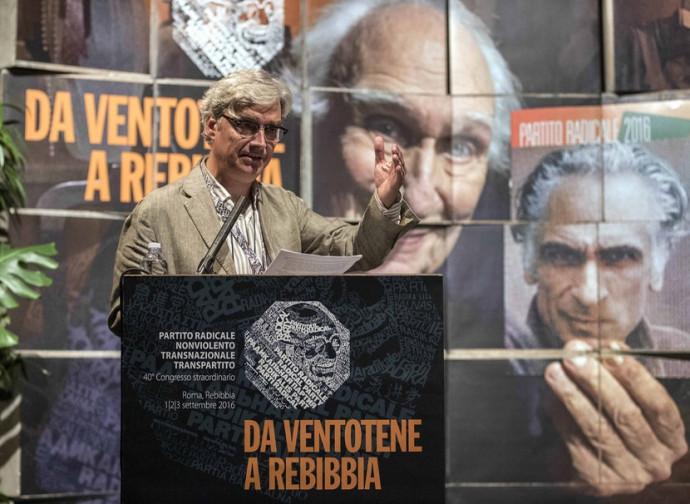 Il segretario radicale Maurizio Turco al Congresso 2016