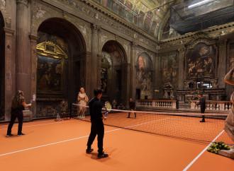 Il tennis in chiesa. Dicono che è arte