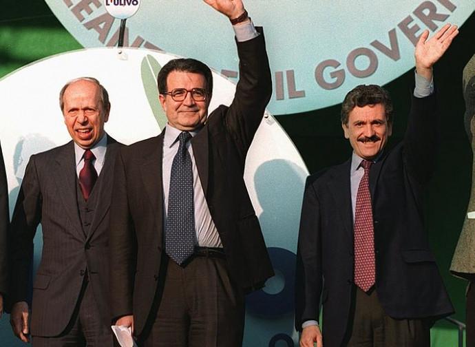 Dini, Prodi e D'Alema al governo nel 1996