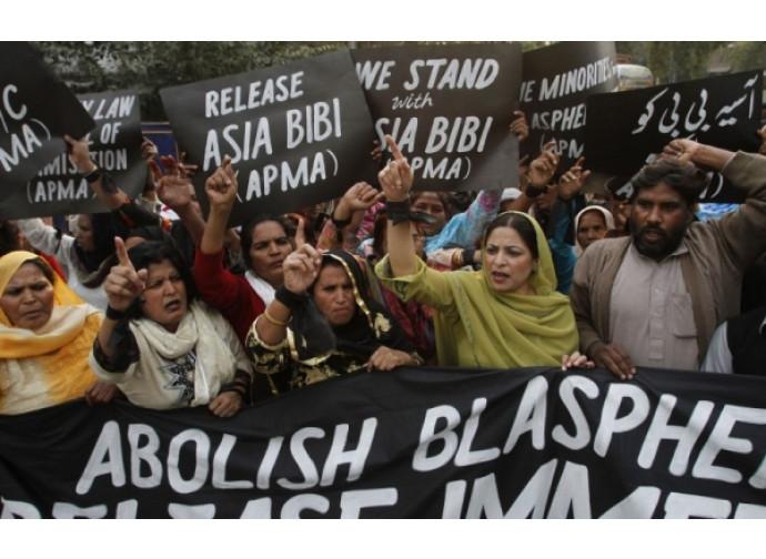 Una manifestazione per Asia Bibi