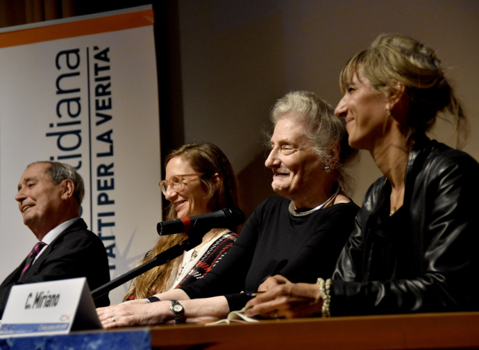 Da sinistra: Vittorio Messori, Costanza Signorelli, Rosanna Brichetti Messori e Costanza Miriano