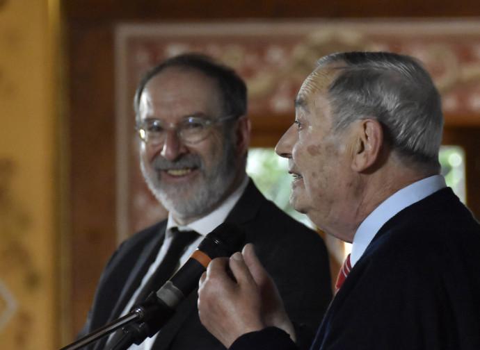 Il direttore Cascioli con Vittorio Messori che ha presentato la nuova edizione di Ipotesi su Gesù per le edizioni Ares