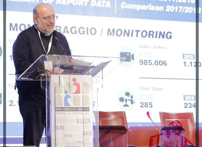 Don Di Noto al World Congress of Families di Verona