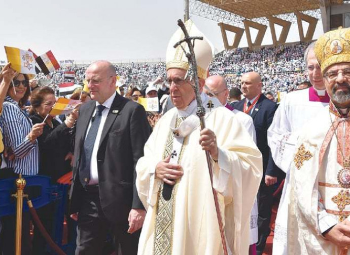 Sidrak durante la visita di Papa Francesco in Egitto
