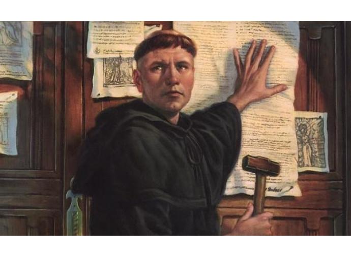 Lutero affigge le 95 tesi