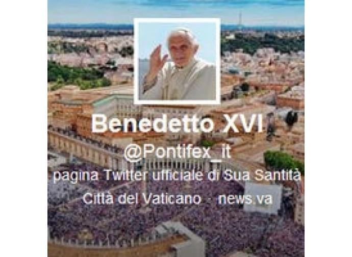 Benedetto XVi su Twitter