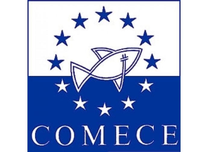 Lo stemma della COMECE