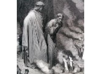 Dante e i simoniaci, comicità sull'avidità dei Papi
