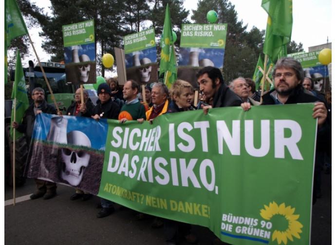 Protesta anti-nuclearista dei Verdi tedeschi