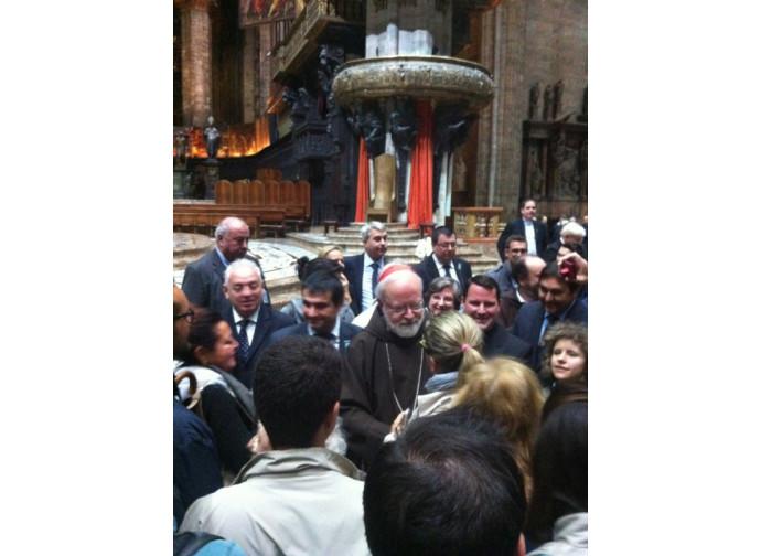 Mons. O'Malley nel Duomo di Milano