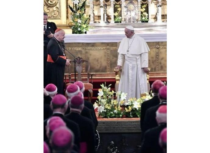 Il Papa con i vescovi polacchi
