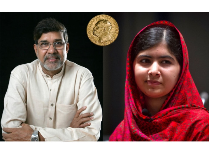 Nobel per la pace a Malala e Kailash Satyarthi. Lei,