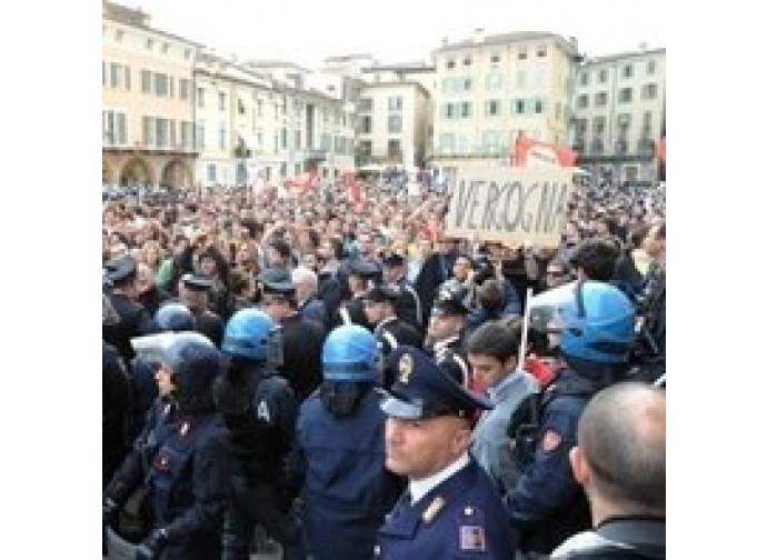 Manifestazione del Pdl a Brescia