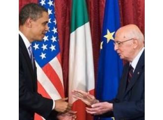 """Le """"invasioni di campo"""" di Obama e Napolitano"""