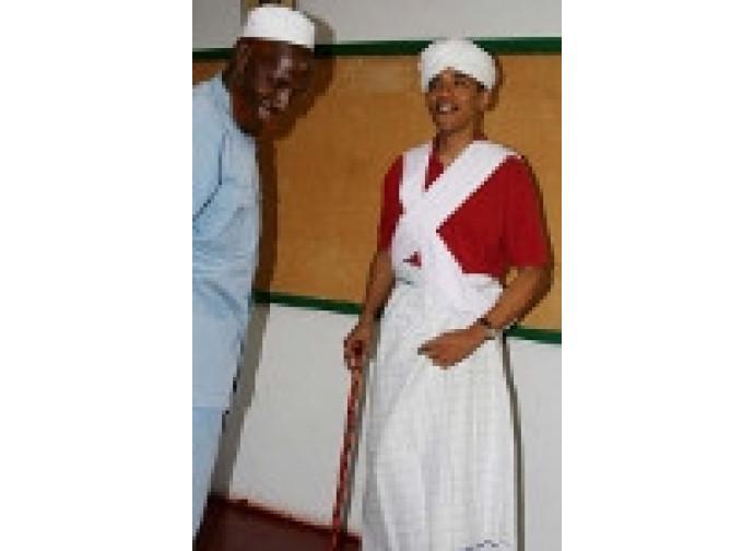 Obama in costume