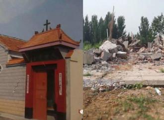 Demolita un'altra chiesa in Cina