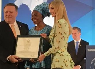 Blessing Okoedion è stata premiata negli Usa per la sua lotta contro i trafficanti