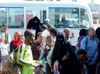 Prosegue il rimpatrio degli emigranti africani in fuga dai combattimenti in Yemen