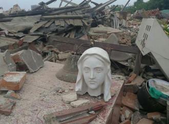 Demolita un'altra chiesa cattolica in Cina nella provincia di Shandong