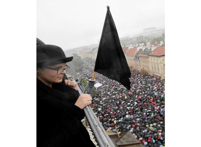 La manifestazione delle donne in nero
