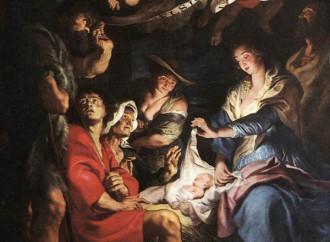 I pastori adorano il Bambino, unica fonte di luce