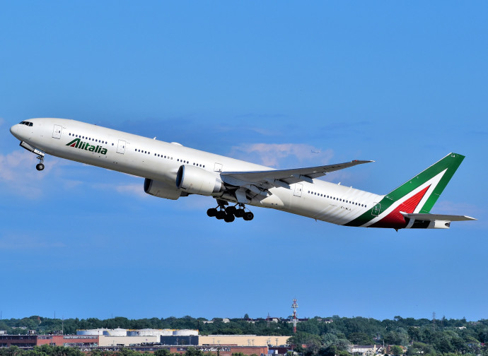 Un volo Alitalia dal JFK di New York