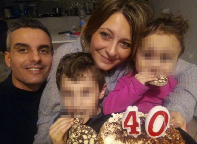 La famiglia Tagliaferro con la piccola Amanda