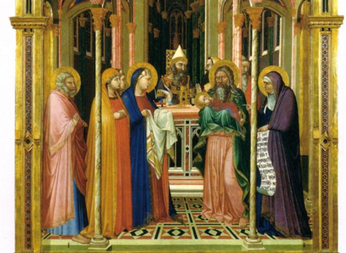 Ambrogio Lorenzetti, Presentazione al Tempio, Firenze - Galleria degli Uffizi
