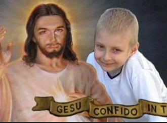 Il bambino crocifisso con Gesù