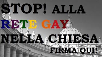 Appello STOP rete gay nella Chiesa