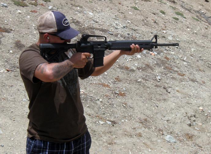 Un fucile Ar-15 (una delle armi più contestate)