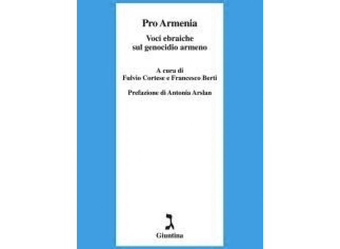 La copertina del libro Pro Armenia. Voci ebraiche sul genocidio armeno