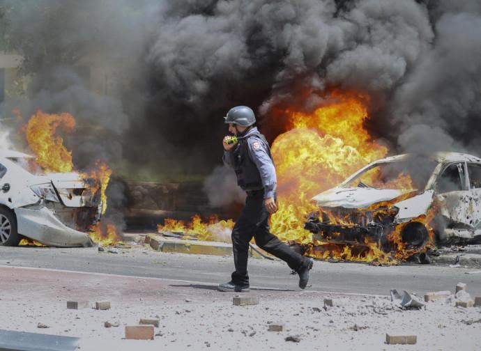 Ashkelon, punto di caduta di un razzo di Hamas