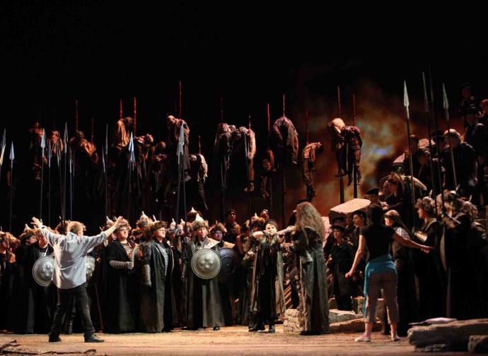 Una precedente rappresentazione dell'Attila di Verdi
