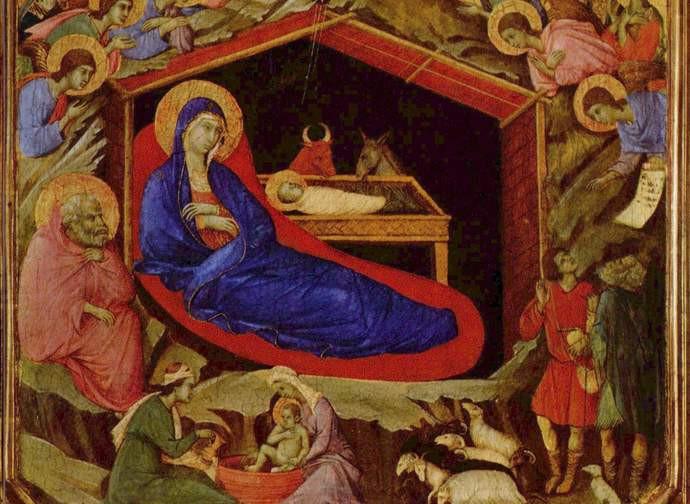 Duccio di Boninsegna, Natività, 1308-1311 circa tempera su tavola 43,8×111 cm. National Gallery of Art, Washington