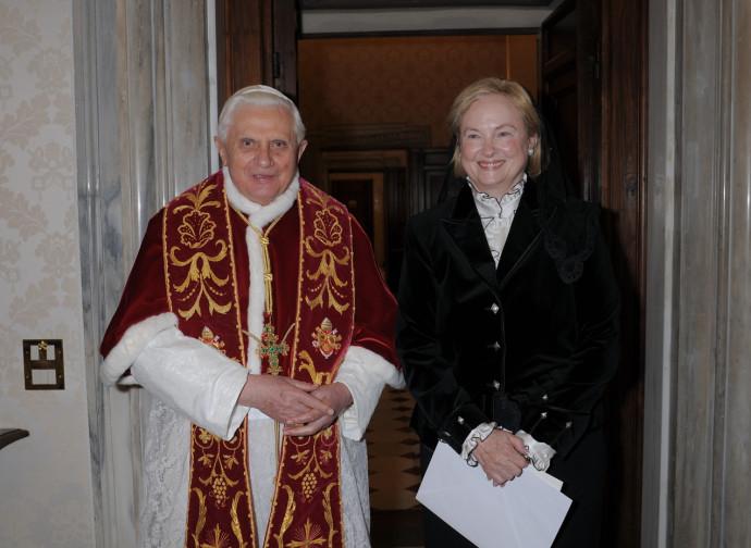 Mary Ann Glendon con Benedetto XVI