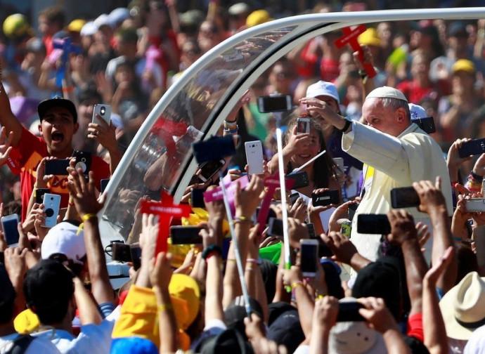Il Papa al santuario di Maipu