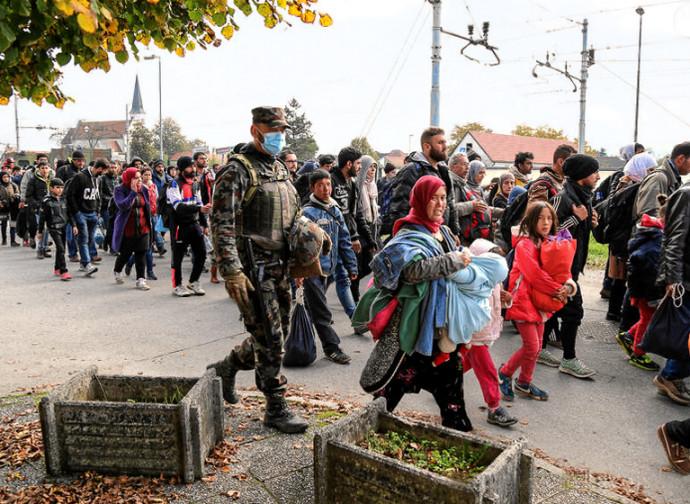 Emigranti sulla rotta balcanica, verso la Germania