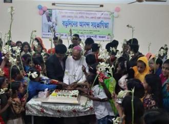 Festa di Natale di Caritas Bangladesh per i bambini poveri