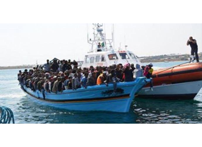 Sbarchi di migranti a Lampedusa