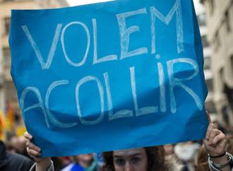 Manifestazione pro-immigrazione a Barcellona