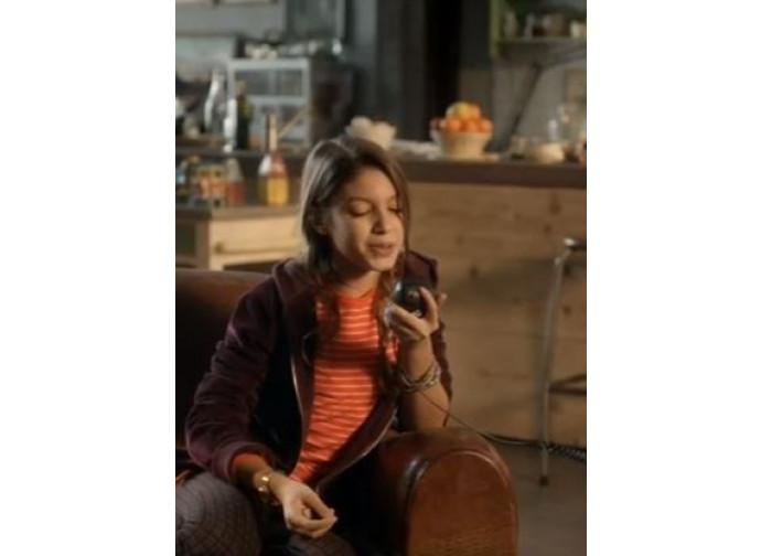 Giulia, protagonista dello spot