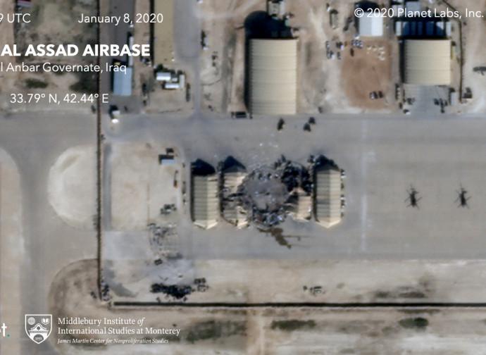 La base di Al Assad, una delle due colpite dagli iraniani