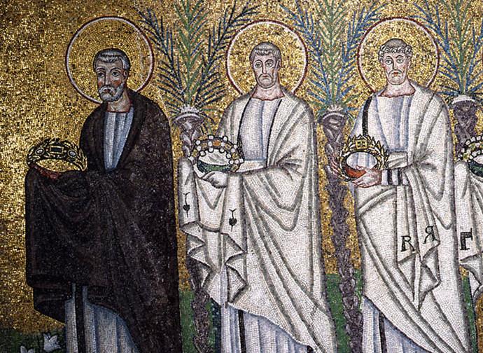 Corteo dei santi (part.) - Basilica S. Apollinare a Ravenna
